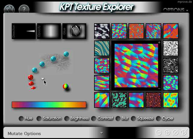 Blacked Out Explorer >> The Interface of Kai Krause's Software @mprove