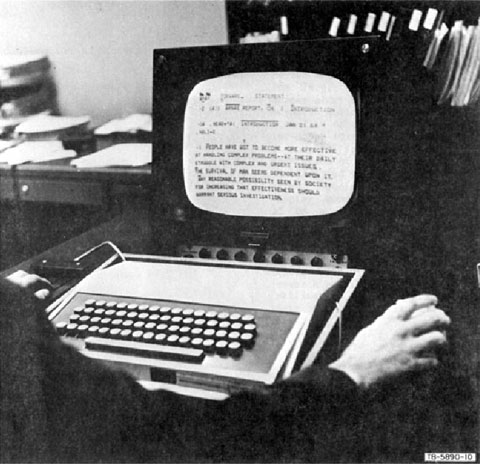 Engelbart's NLS workstation